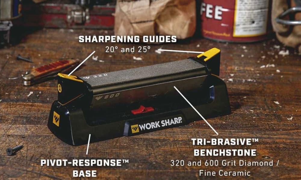 Work Sharp Affilatore Manuale Benchstone Knife Sharpener